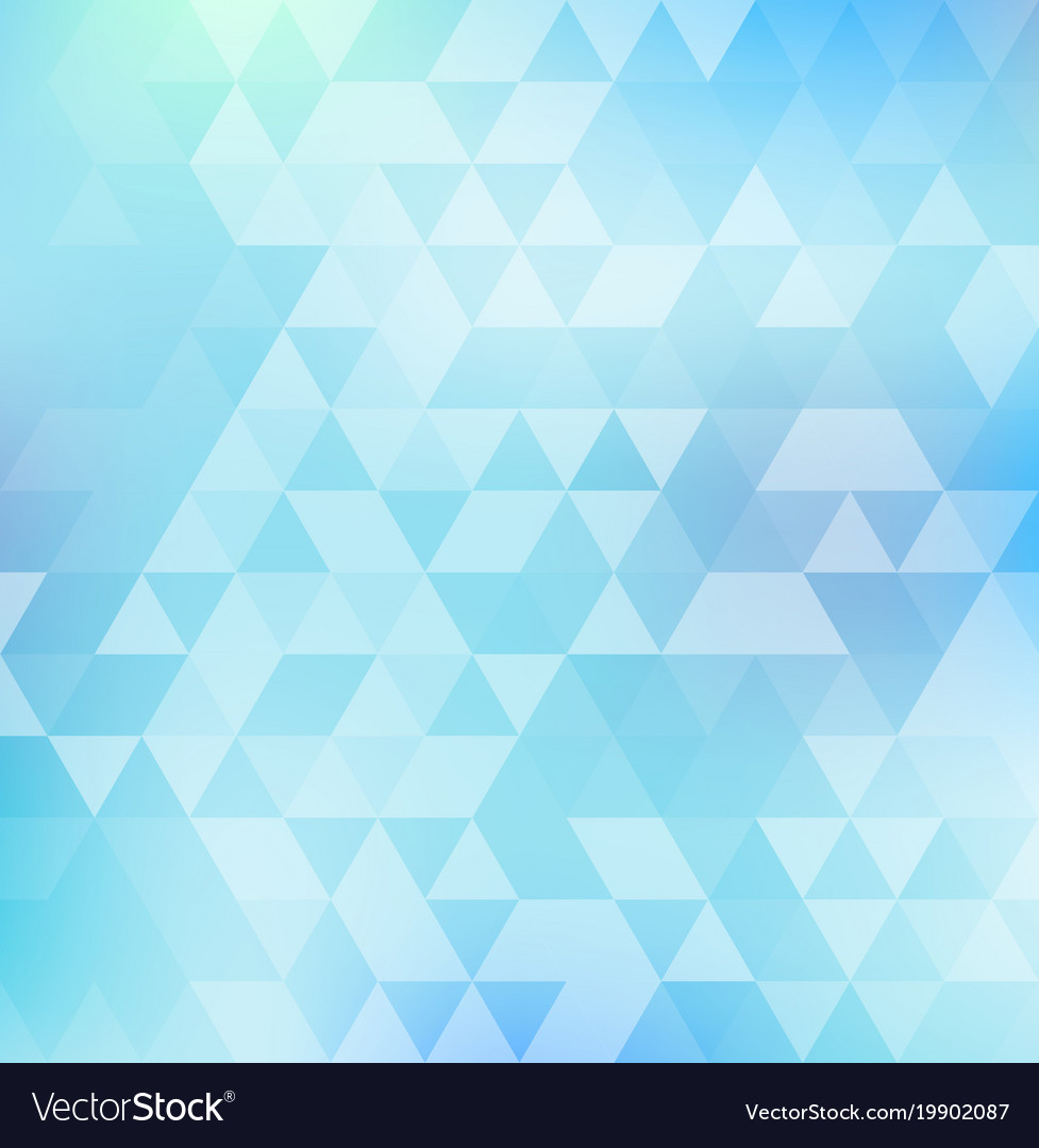 Abstract Triangle Pattern On Blue Color Vector Image