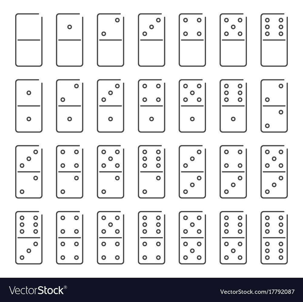 Dominoes icon set symbol