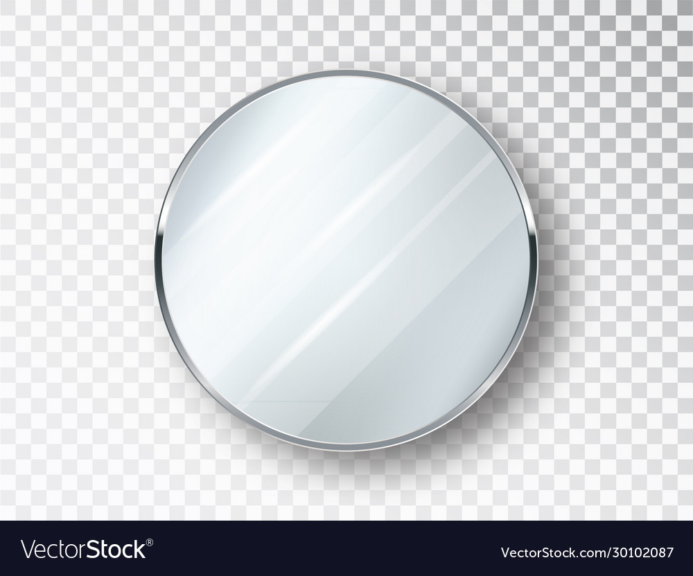 Mirror Round Isolated Realistic Round Mirror Vector Image