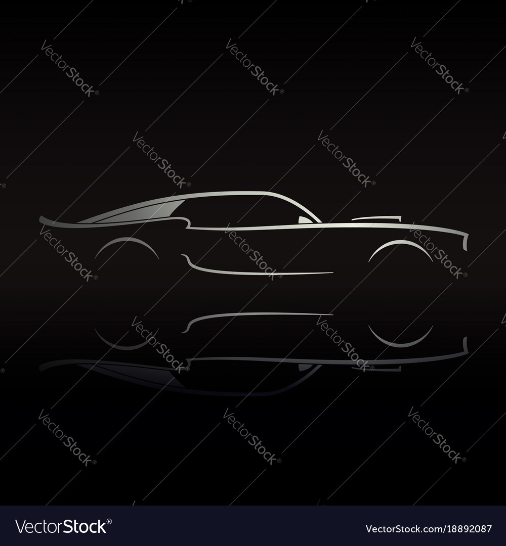 Muscle Car Outline Vector Images 60