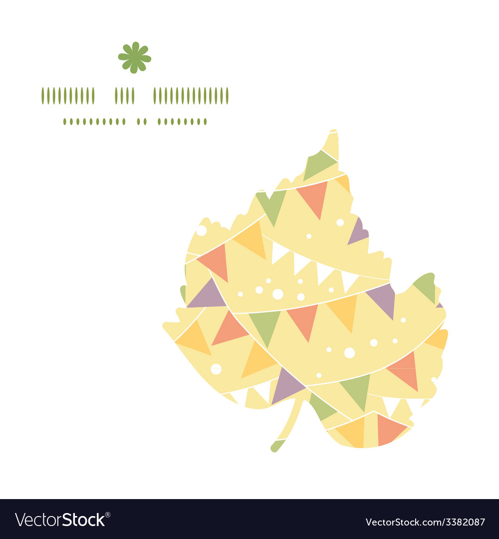 Party decorations bunting leaf silhouette pattern