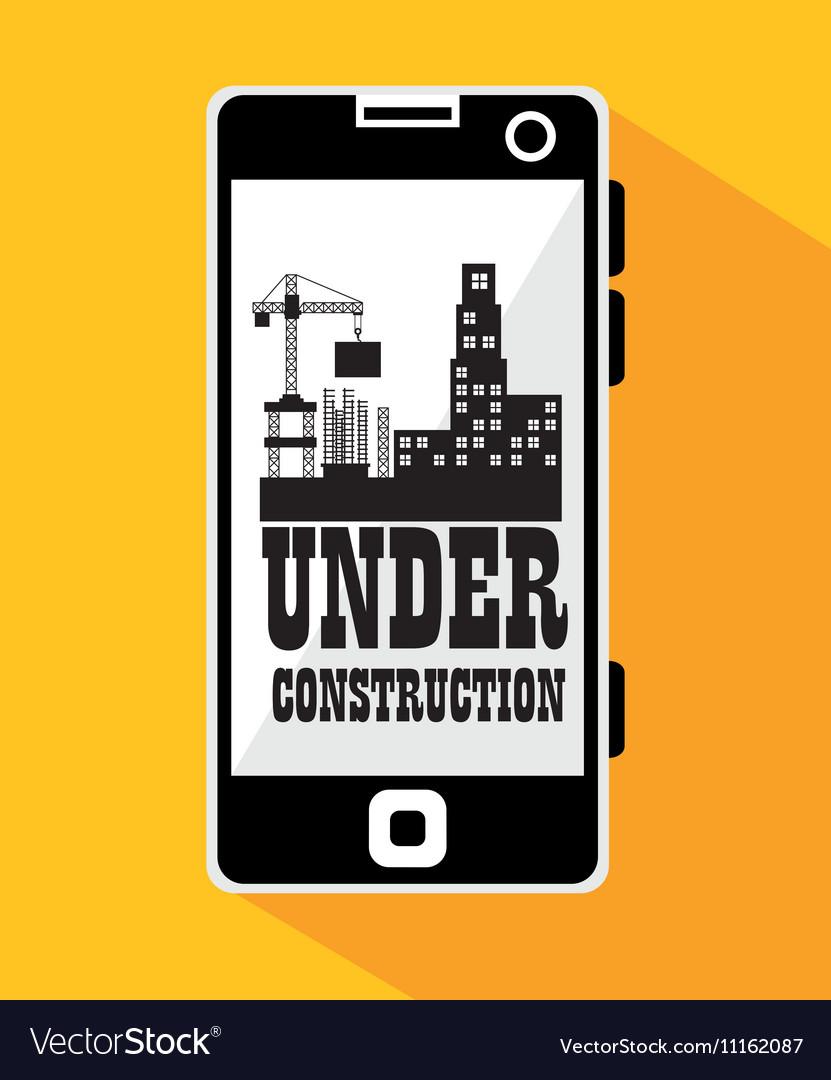 Smartphone site under construction
