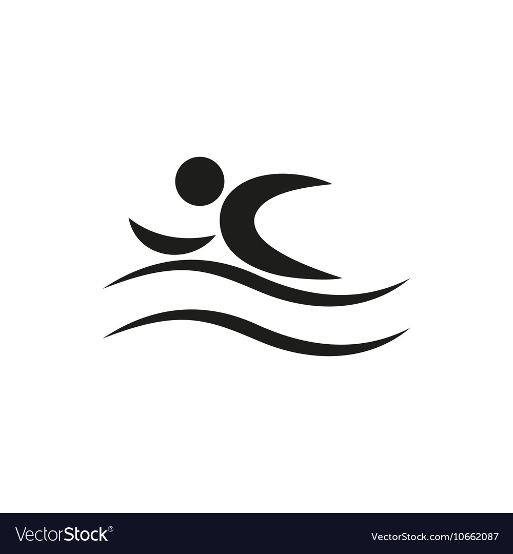 Summer Swim Water People Pictogram Icon vector image