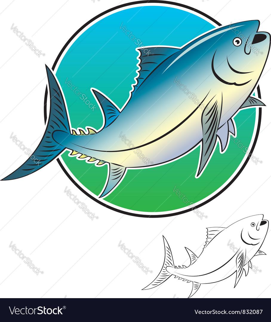 Tuna fish vector image