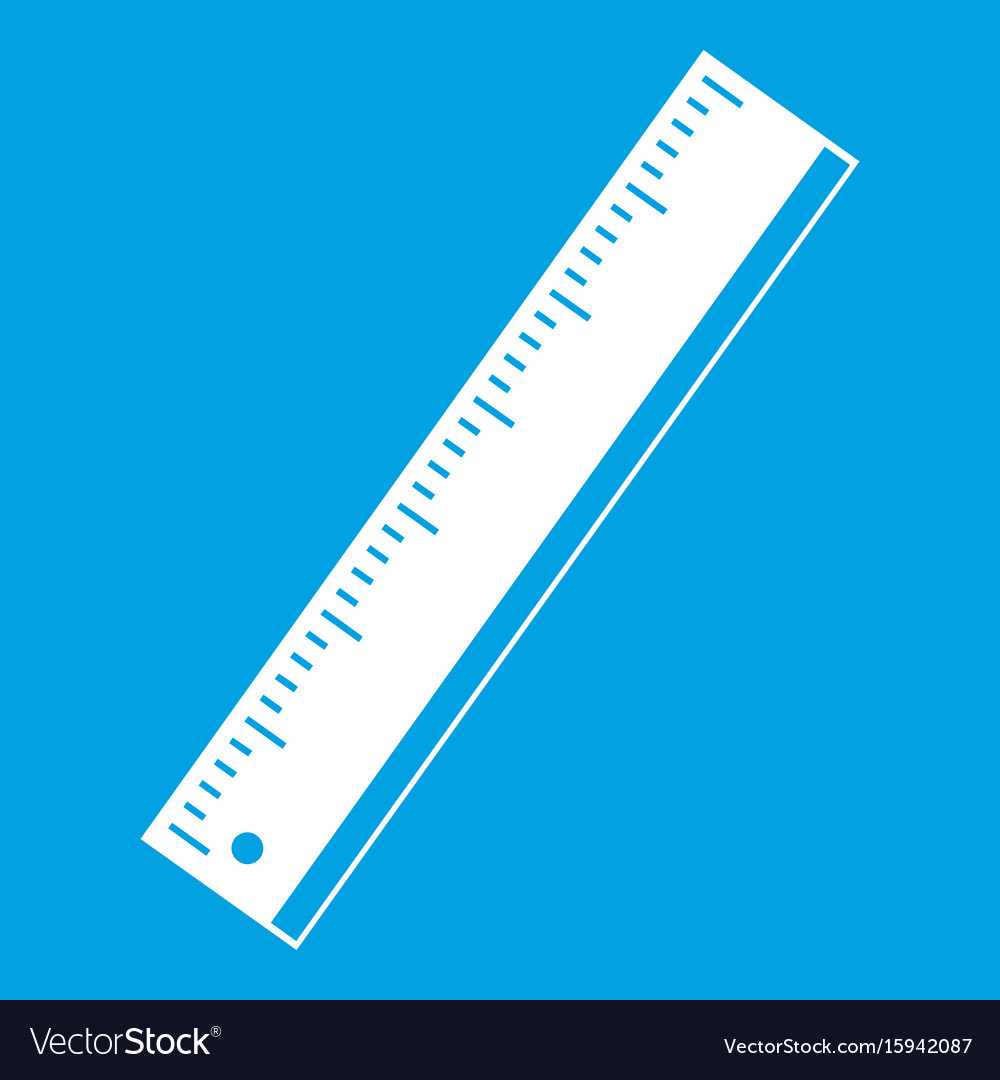 Yardstick icon white vector image