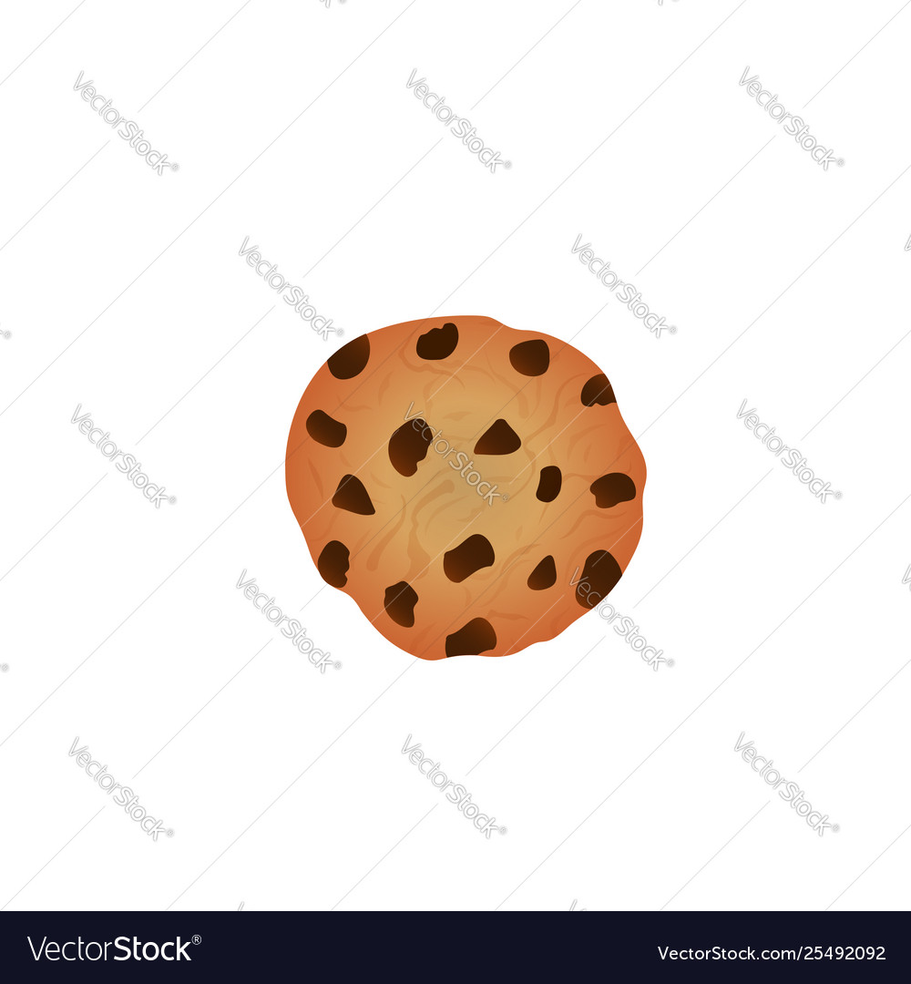 Bitten chocolate chip cookie isolated on white