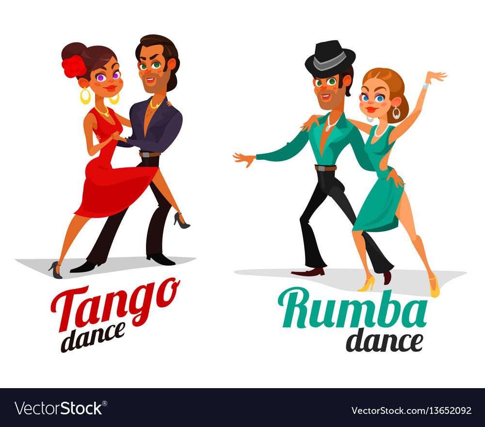 Cartoon of a couples dancing tango and