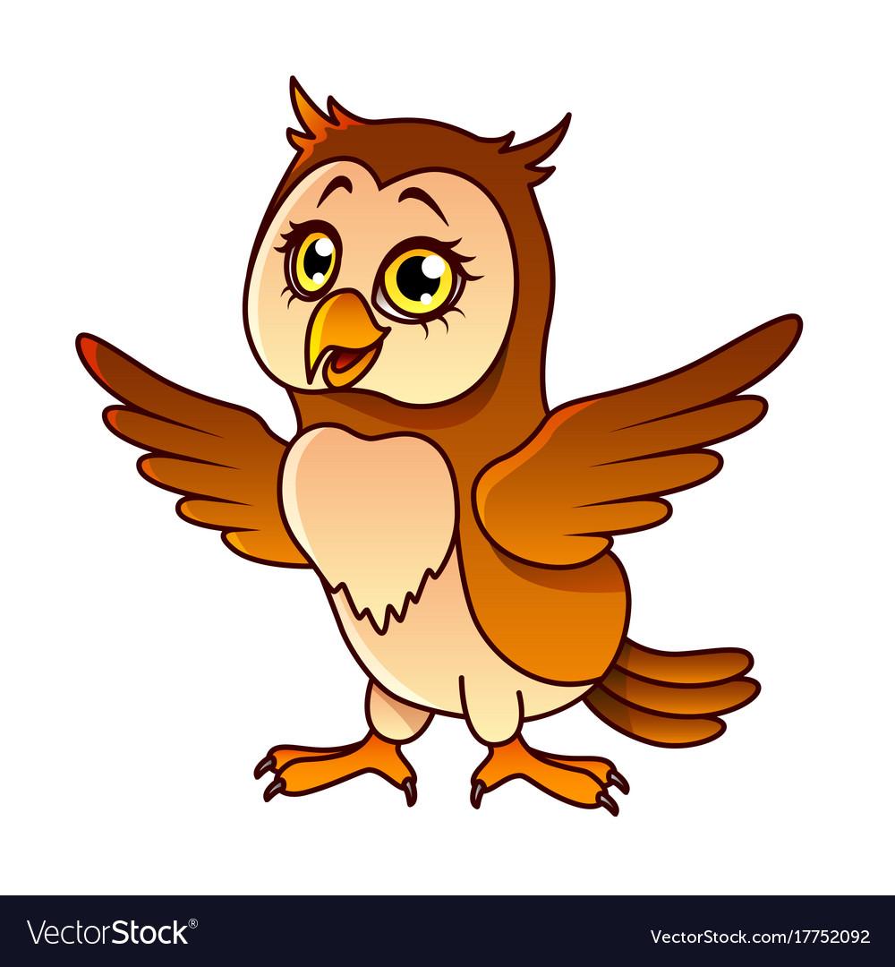 Cartoon owl isolated