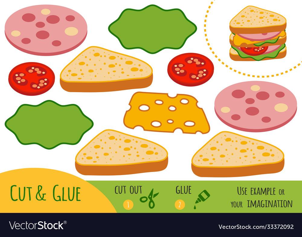 Education paper game for children sandwich