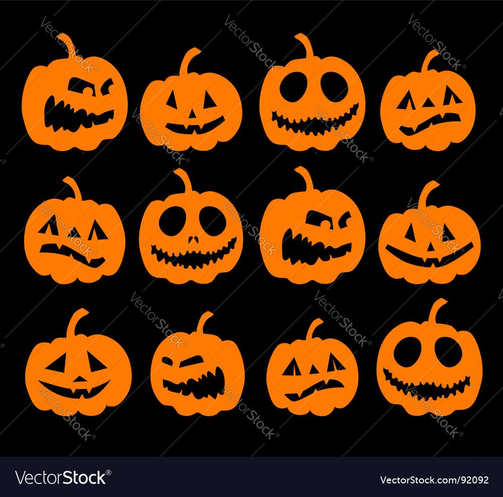 halloween pumpkins royalty free vector image - vectorstock