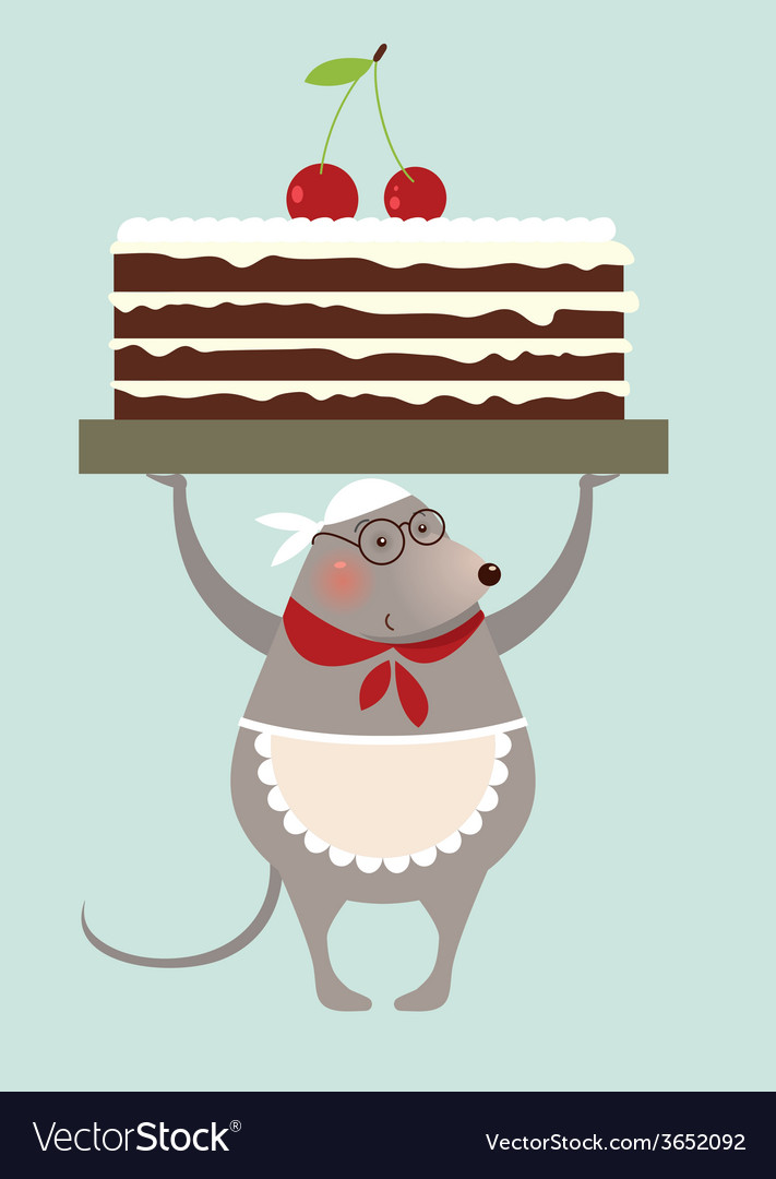 Mouse cook and cake