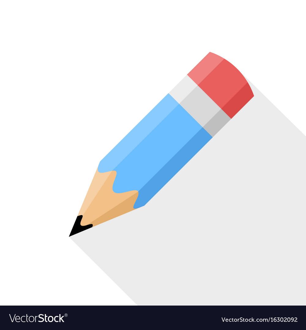 Pencil flat design icon vector image
