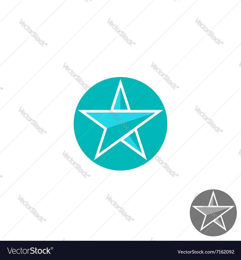 Star logo round graphic shape mockup design