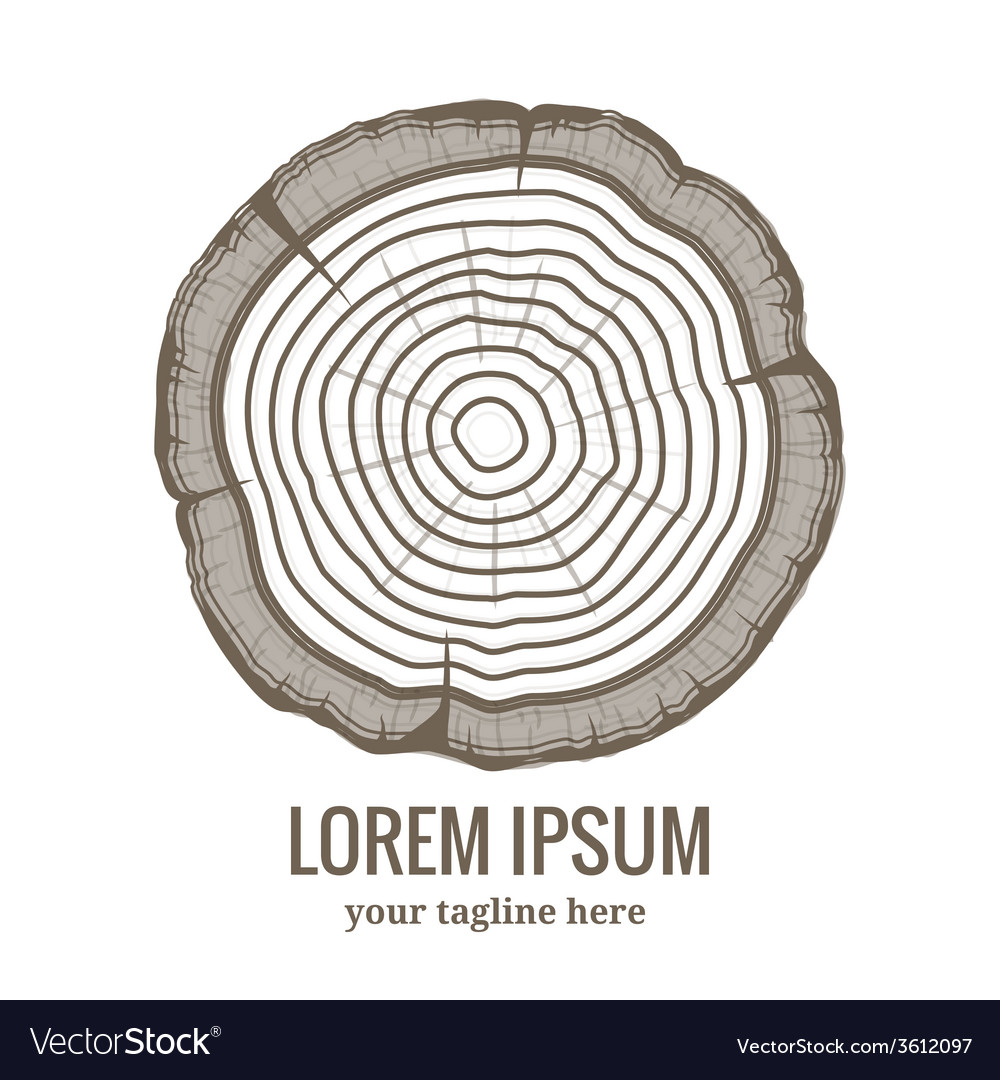 Annual Tree Growth Rings Logo Icon Royalty Free Vector Image