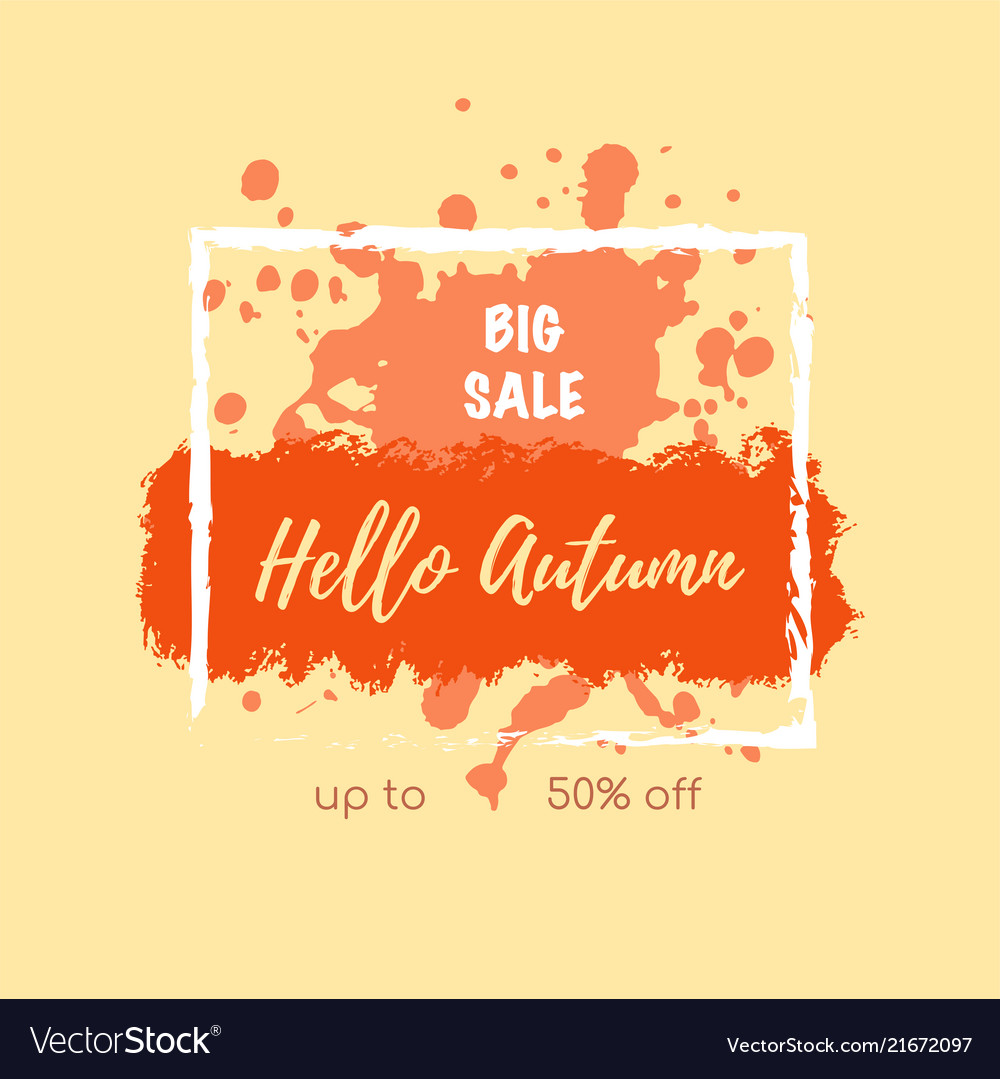 Autumn sale banner