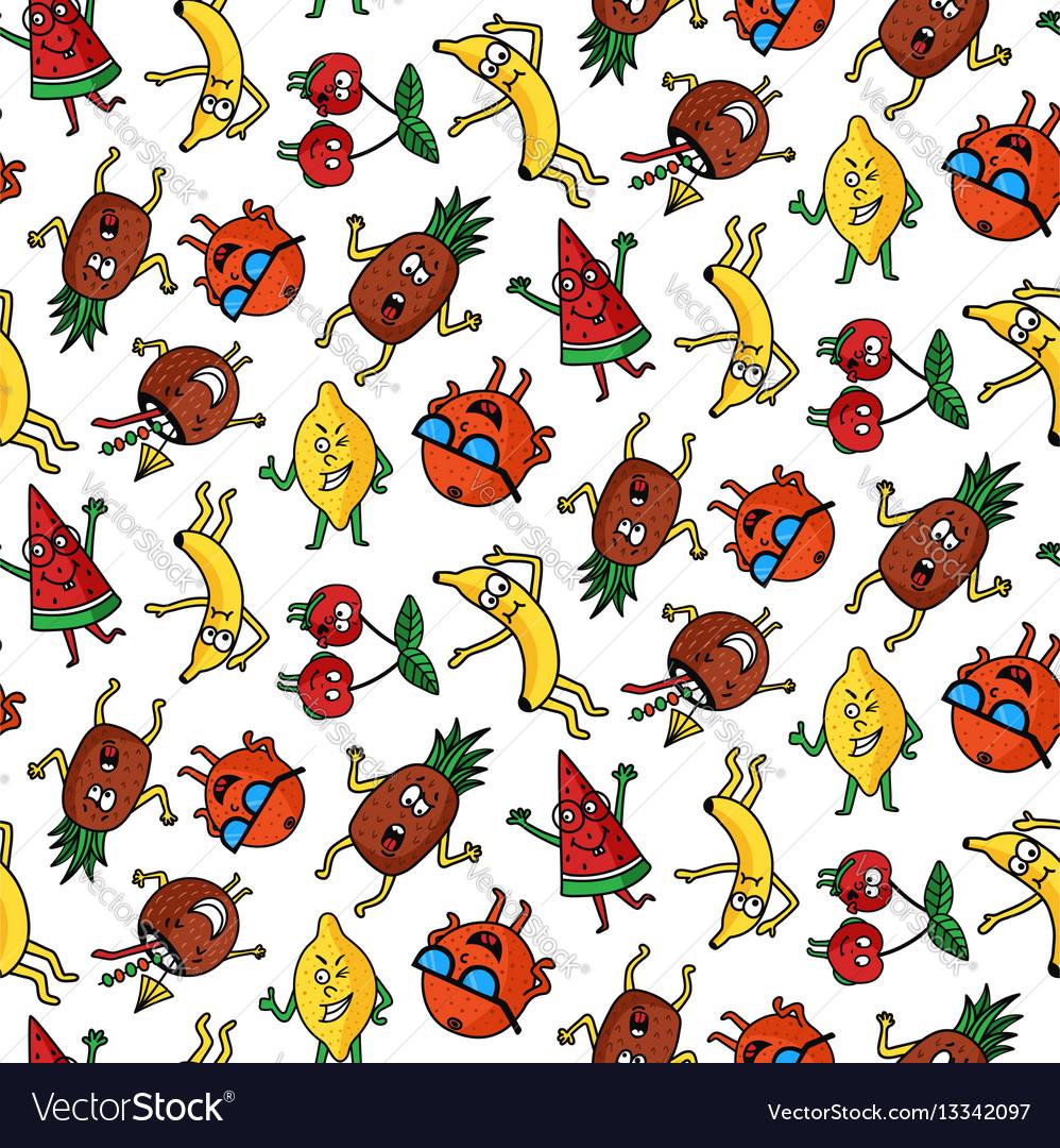 Crazy fruit pattern