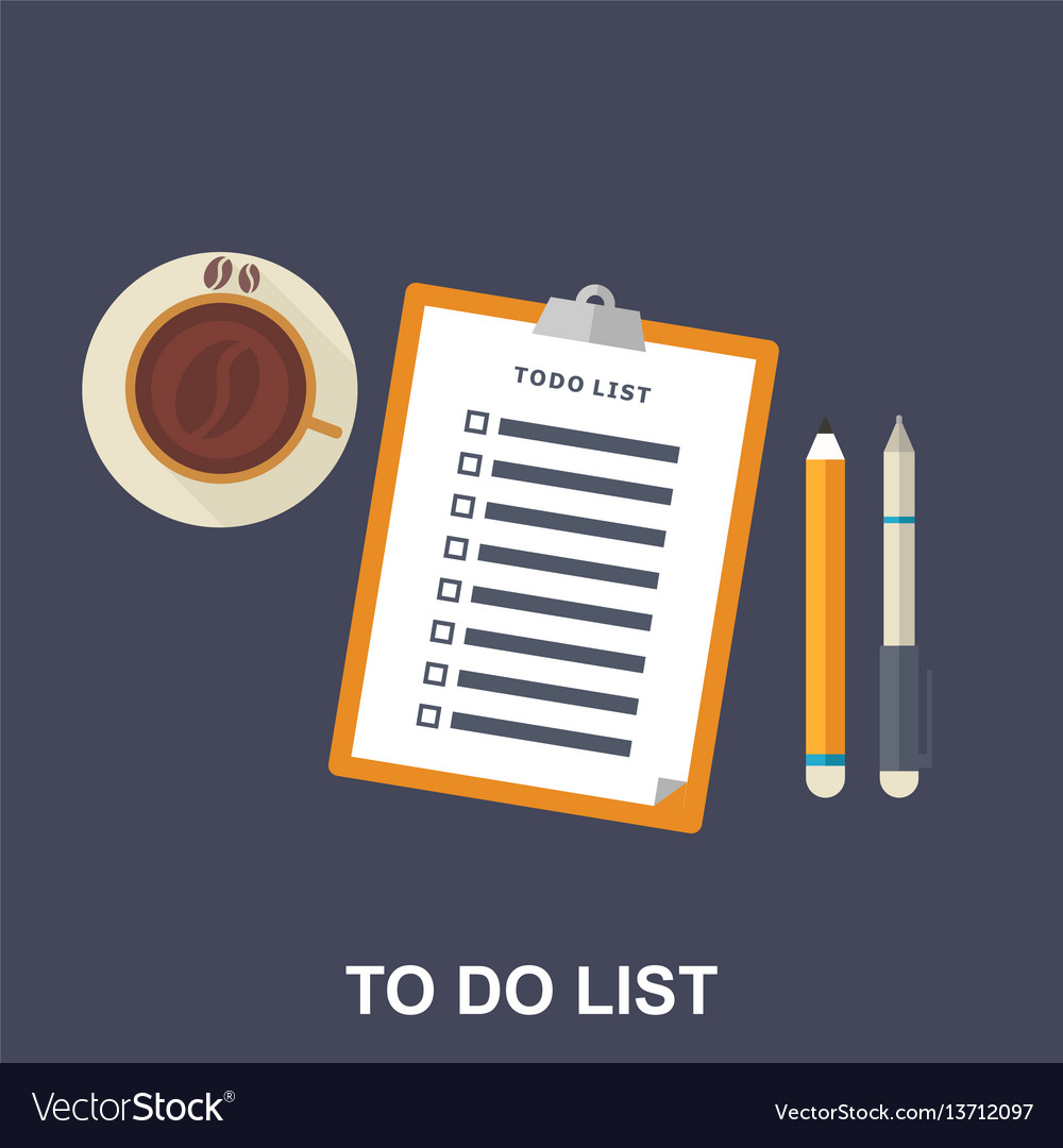 Flat of to-do list