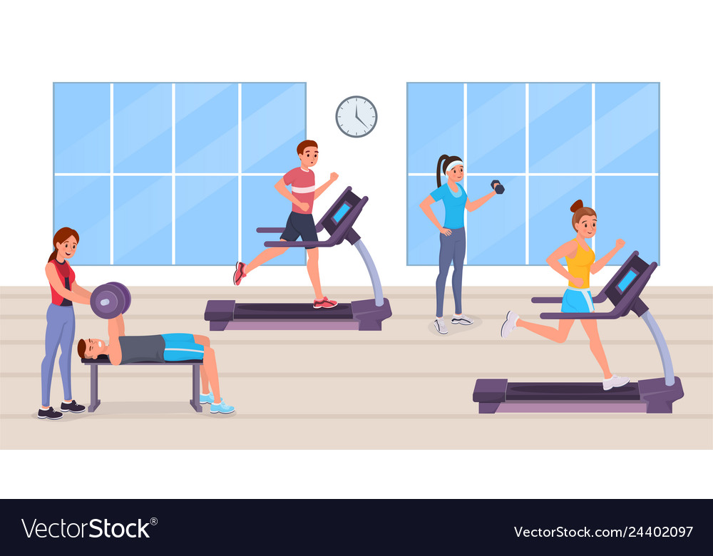 People having workout in gym