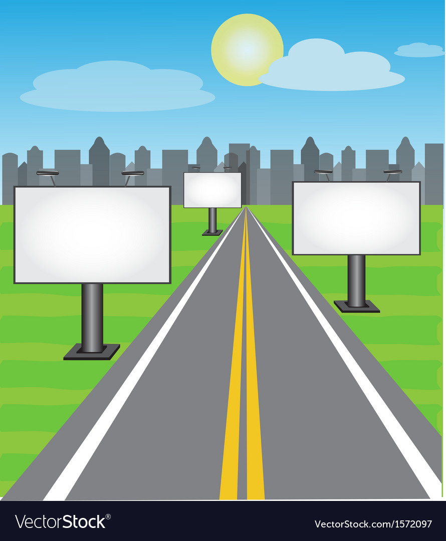 Road boards vector image