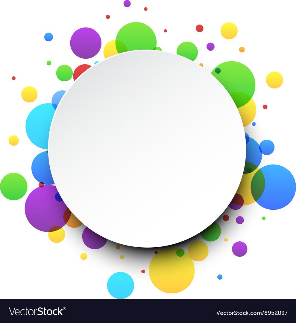 round color background royalty free vector image