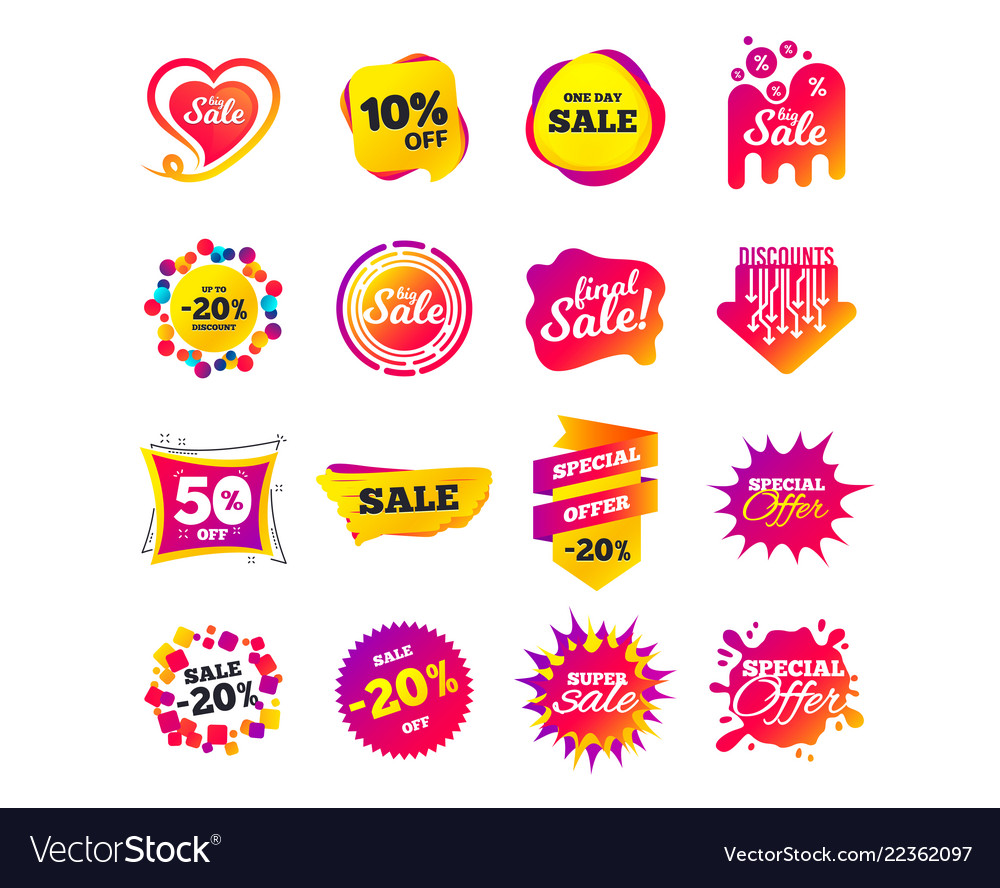 Sale banner templates special offer tags