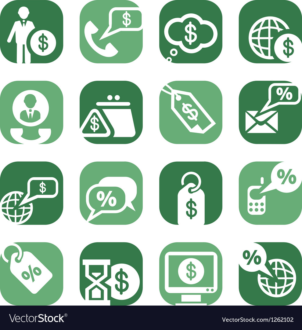 Color money icons vector image