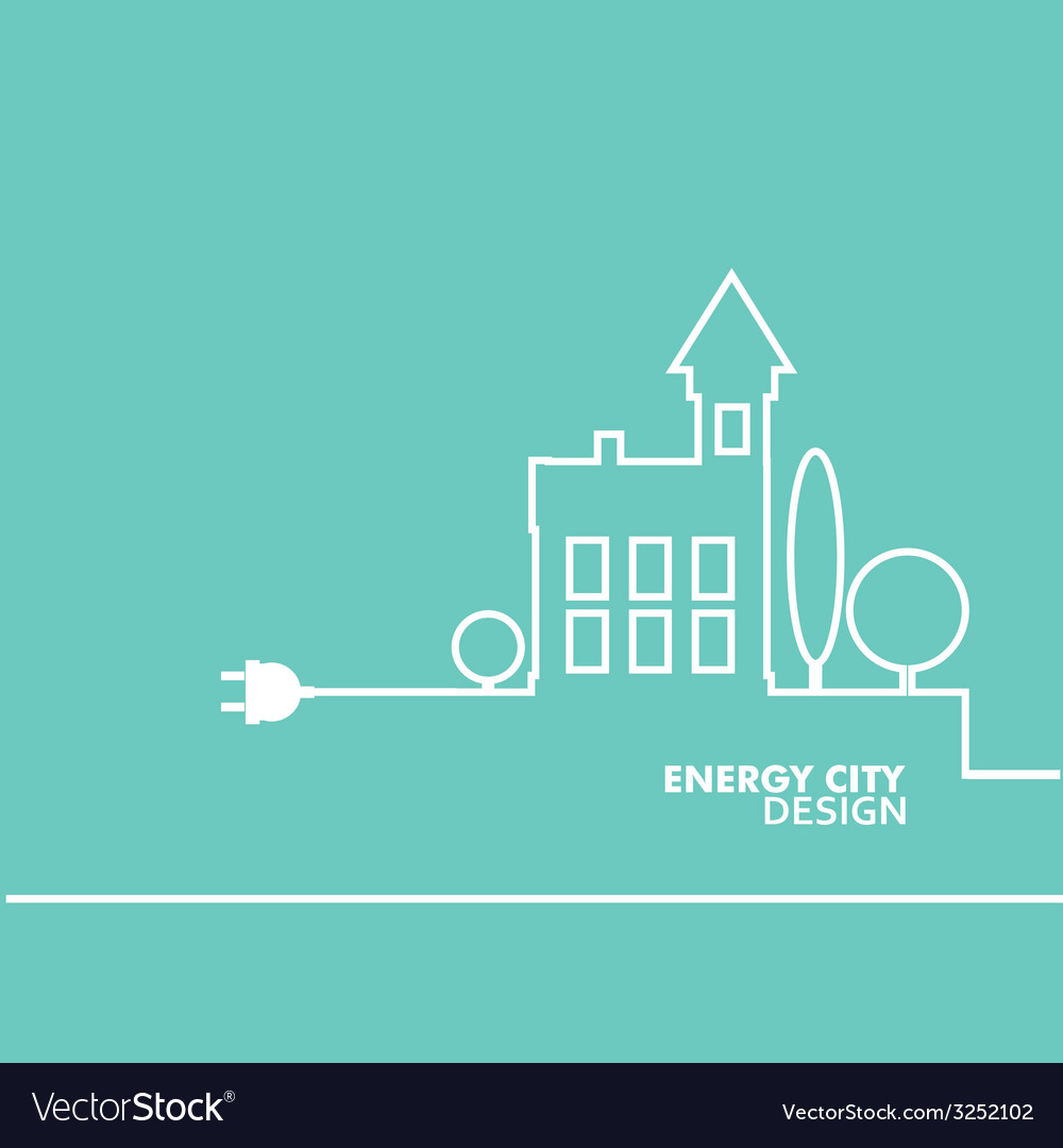 Concept electric circuit city flat design Vector Image