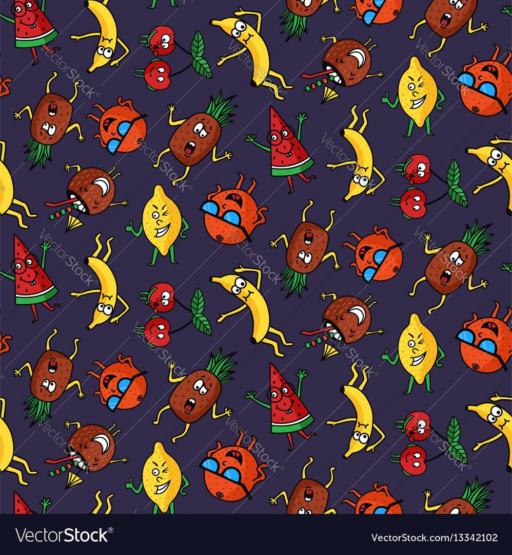 Dark crazy fruit pattern