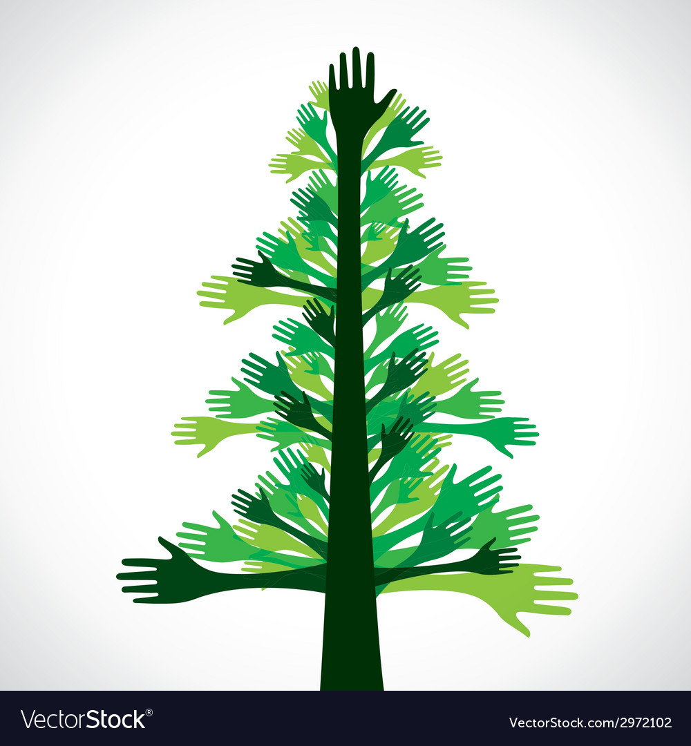 Green hand tree