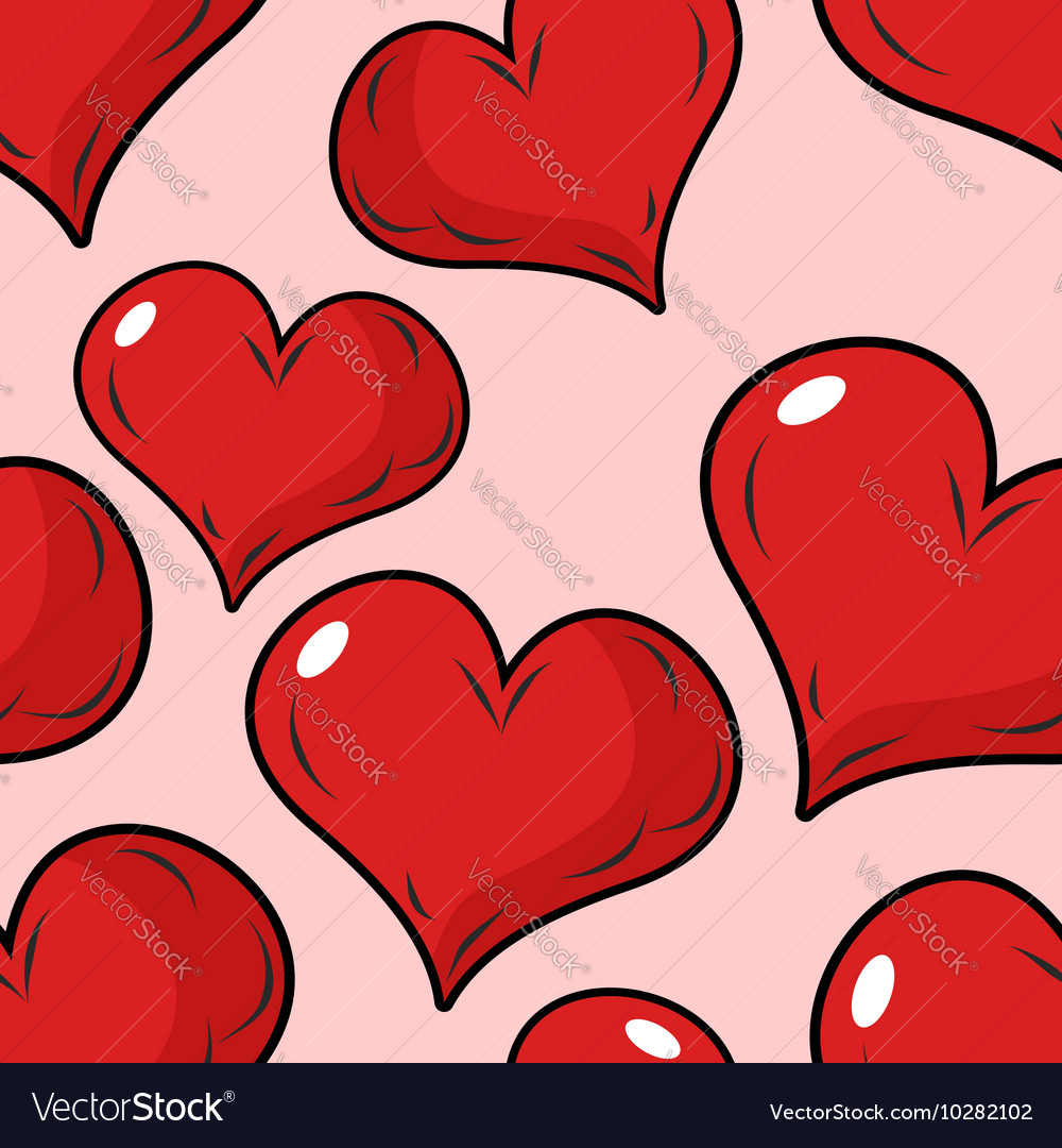 Love seamless pattern for Valentines day vector image