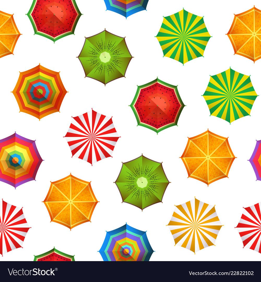 Summer beach umbrellas pattern or