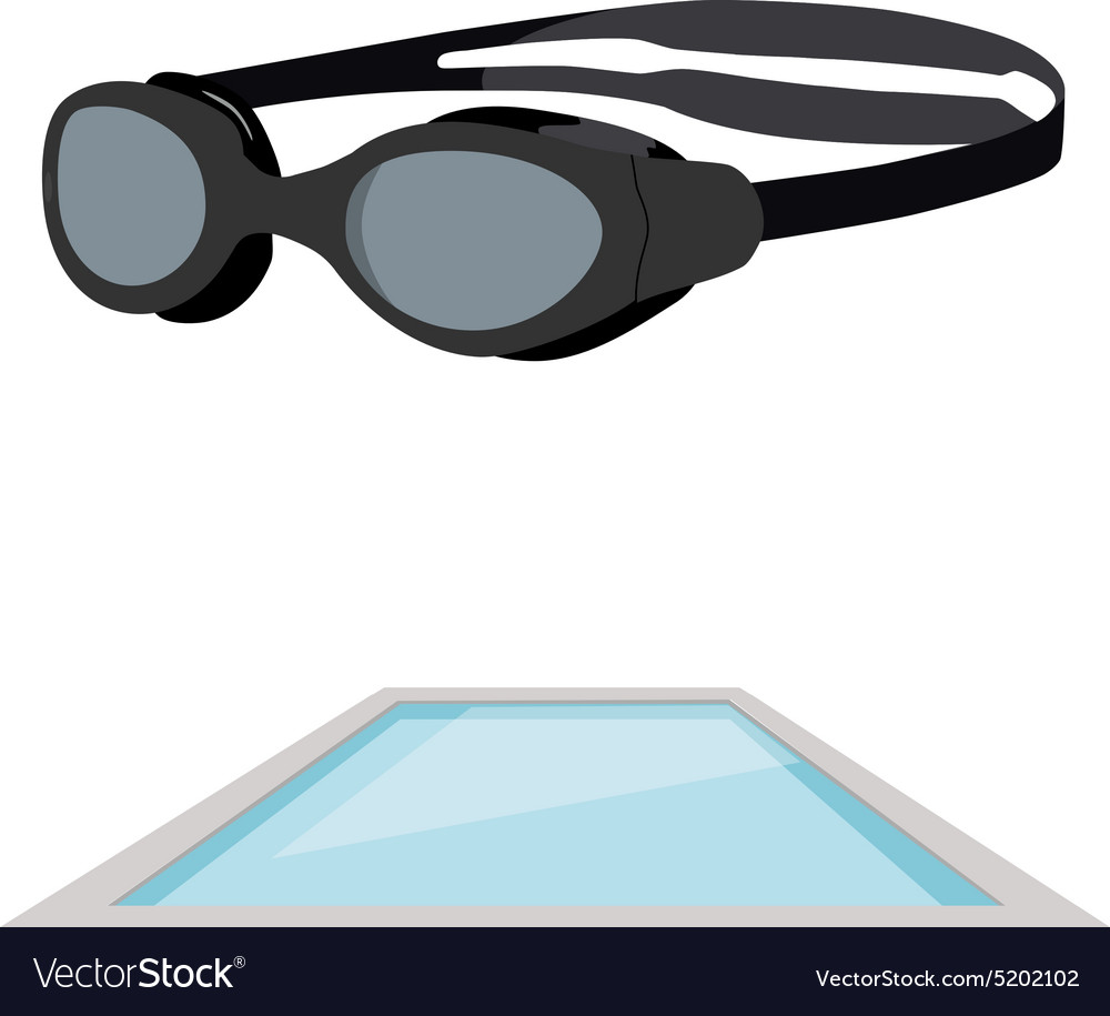 Swimming pool and goggles