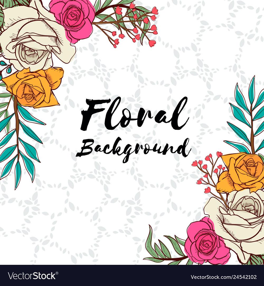Wedding Invitation Card Flower Background