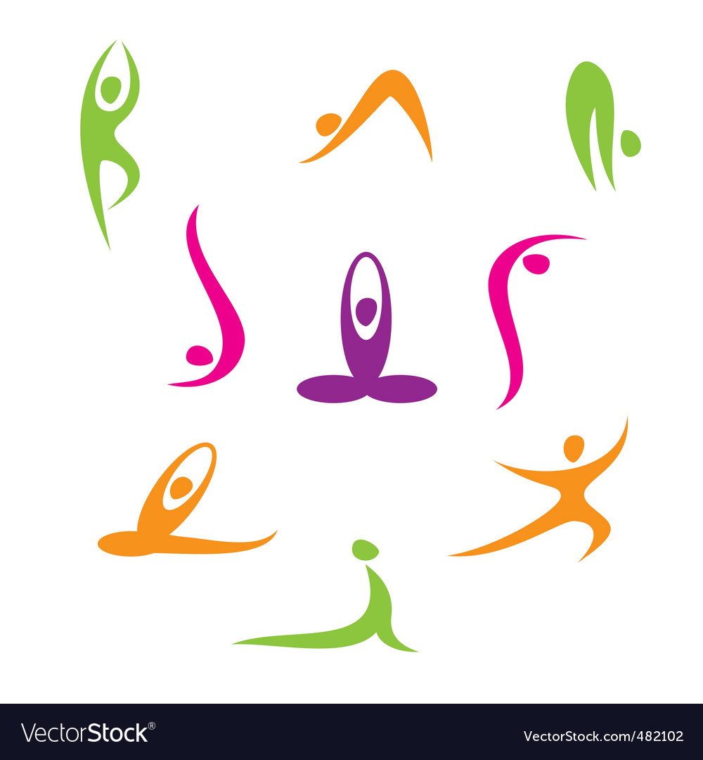 yoga royalty free vector image vectorstock rh vectorstock com yoga vector free download yoga vector graphic