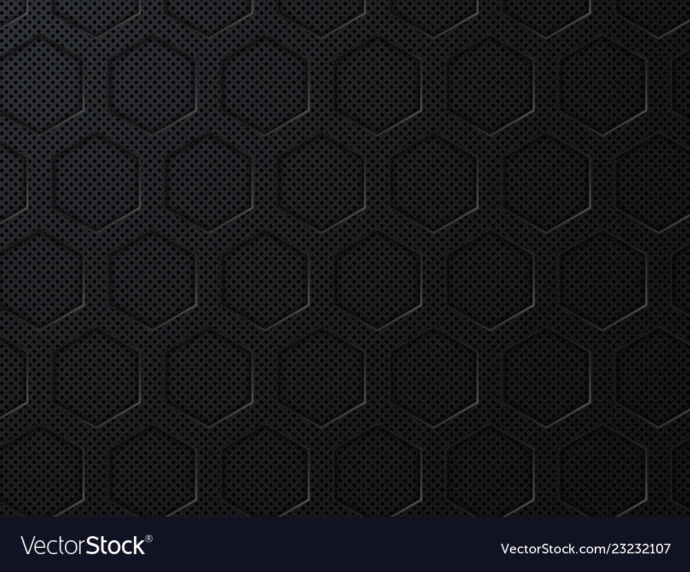 Abstract black geometric background with hexagons