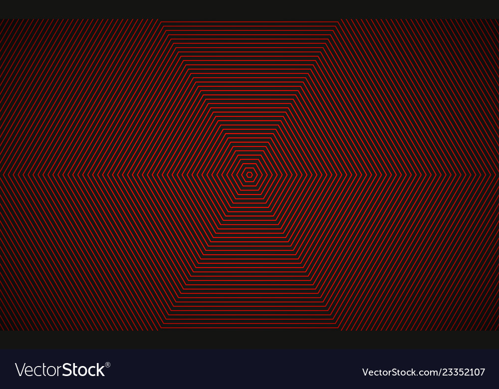 Abstract red black hexagonal background