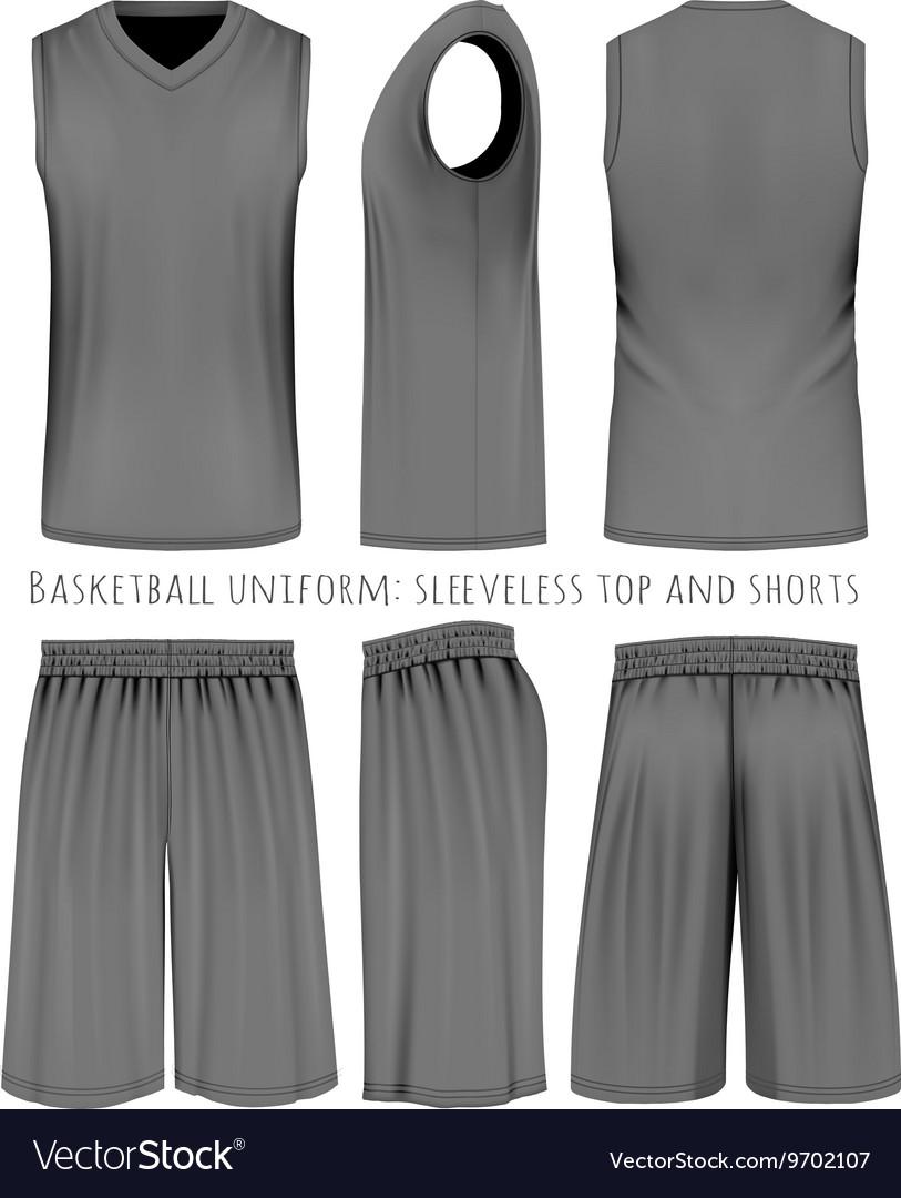 4c388bc1dc48d8 Basketball black uniform Royalty Free Vector Image