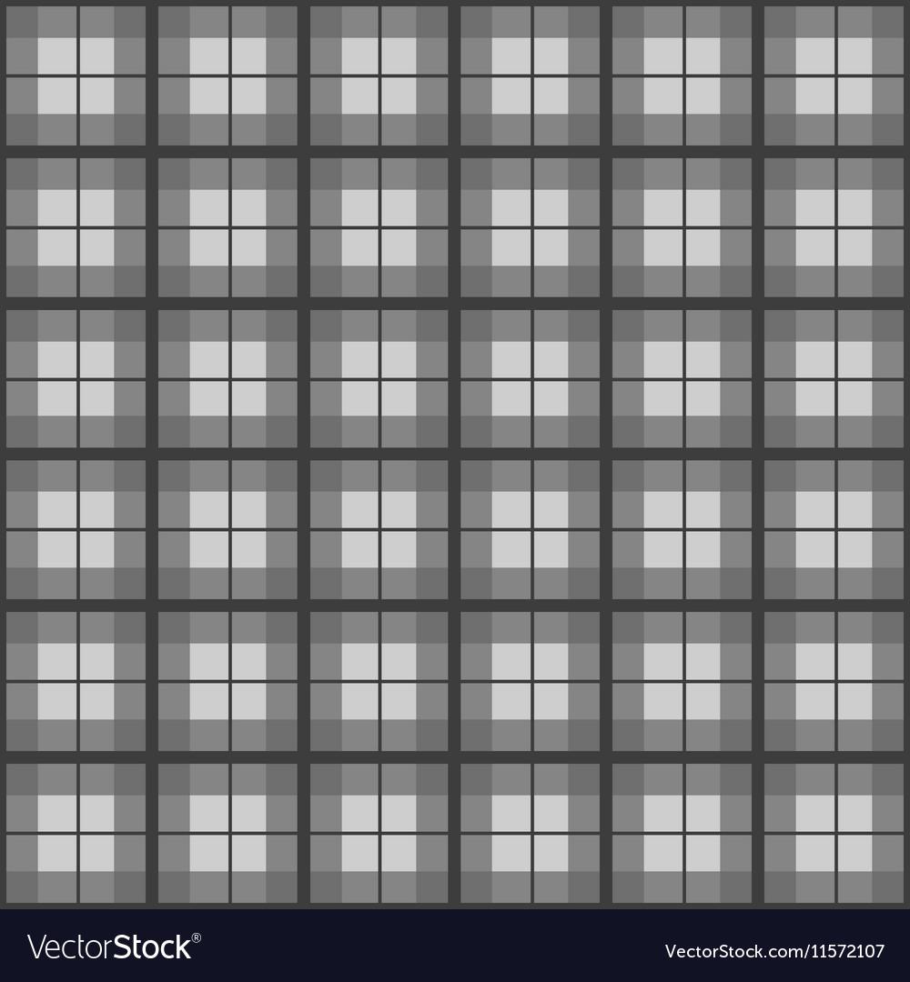 Black White Tartan Background vector image