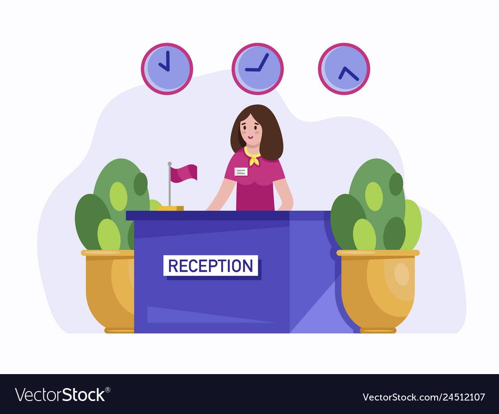 Hotel reception concept