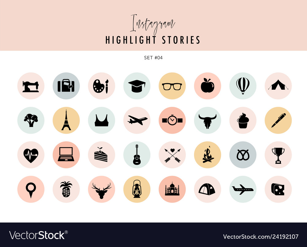Instagram highlights stories covers icons