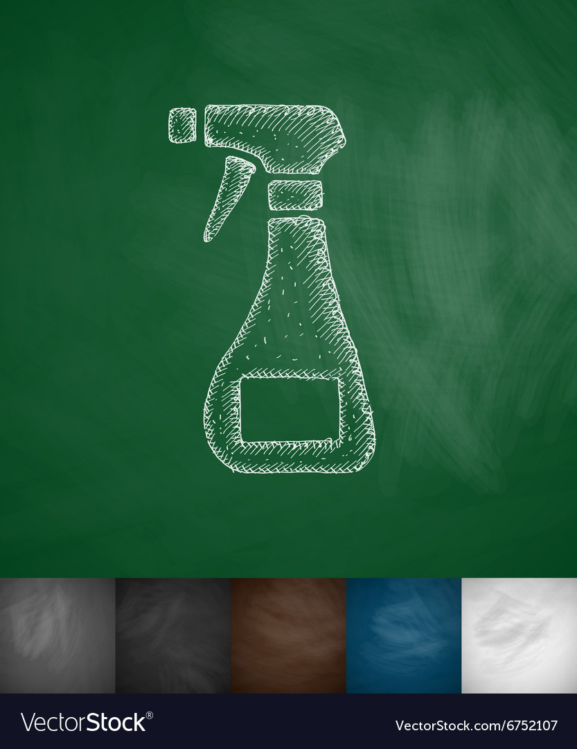 Means for cleaning icon vector image
