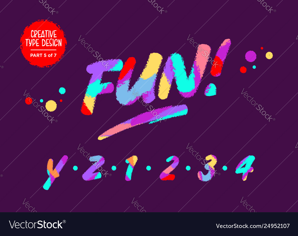Type design with neon colors creative