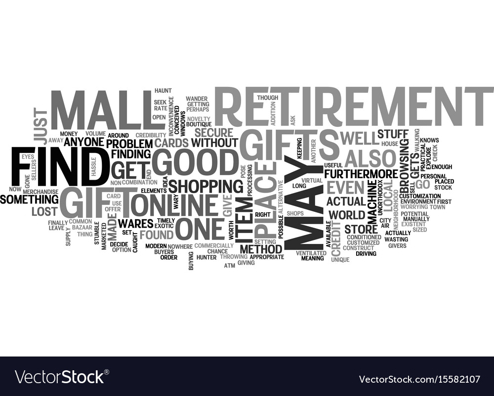where to find retirement gifts text word cloud vector image