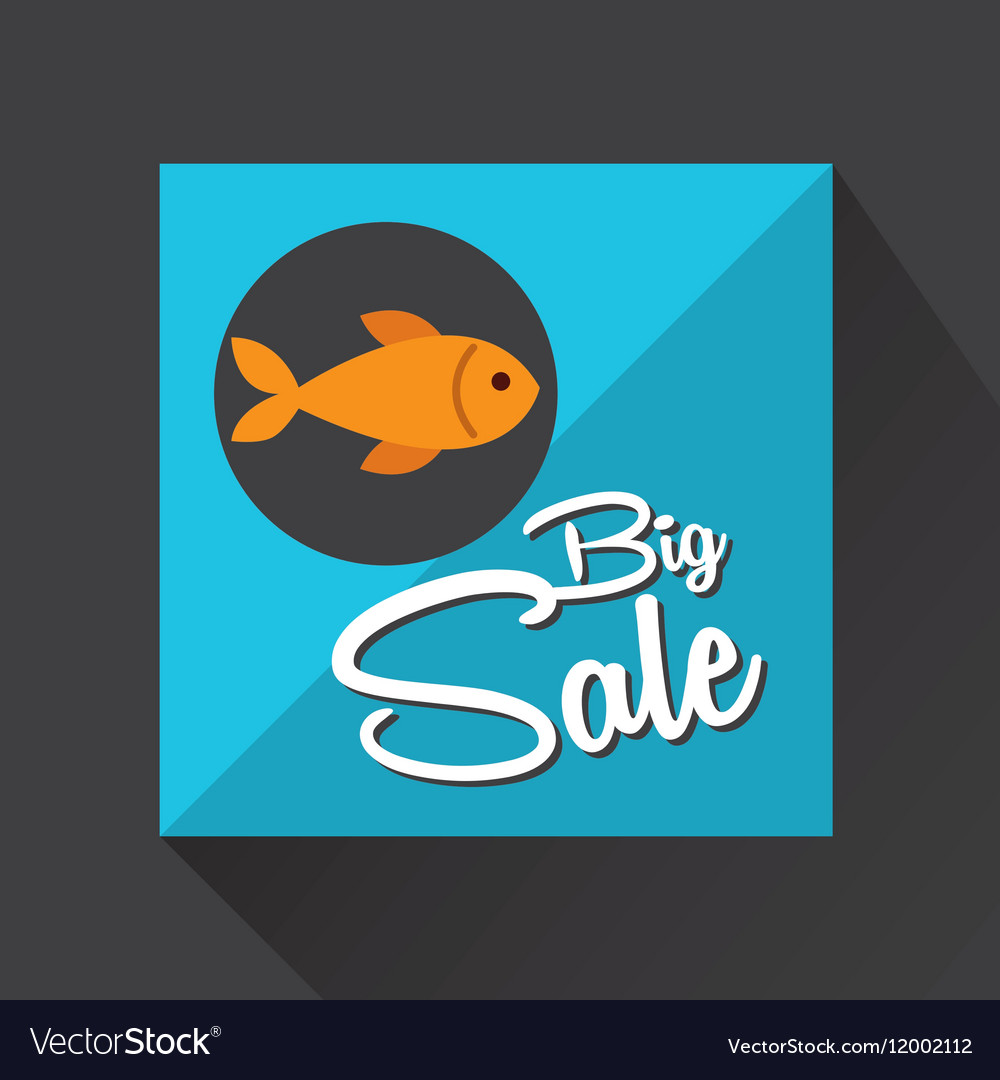 Big sale concept seafood fresh fish