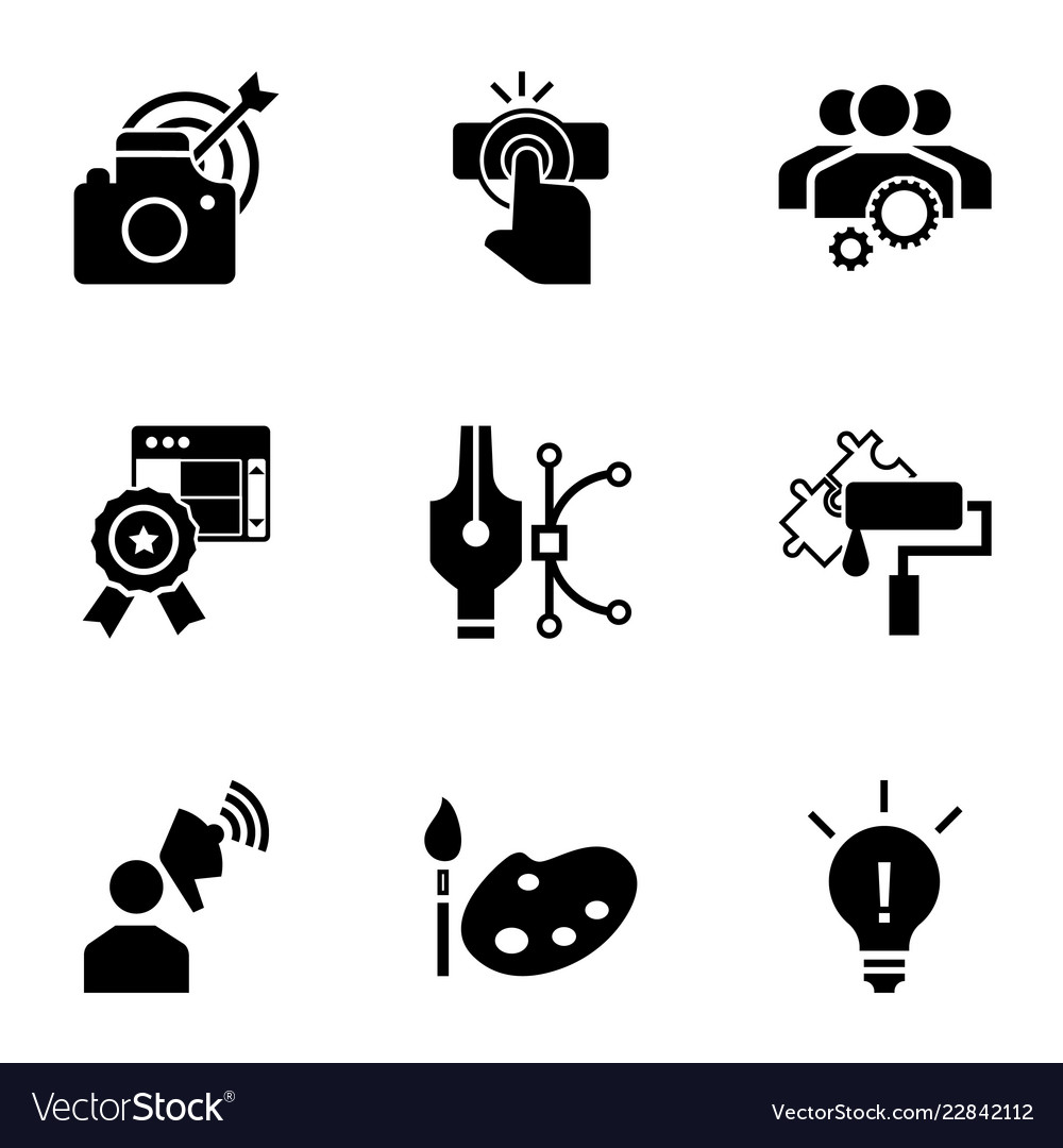 Business start up icon set simple style