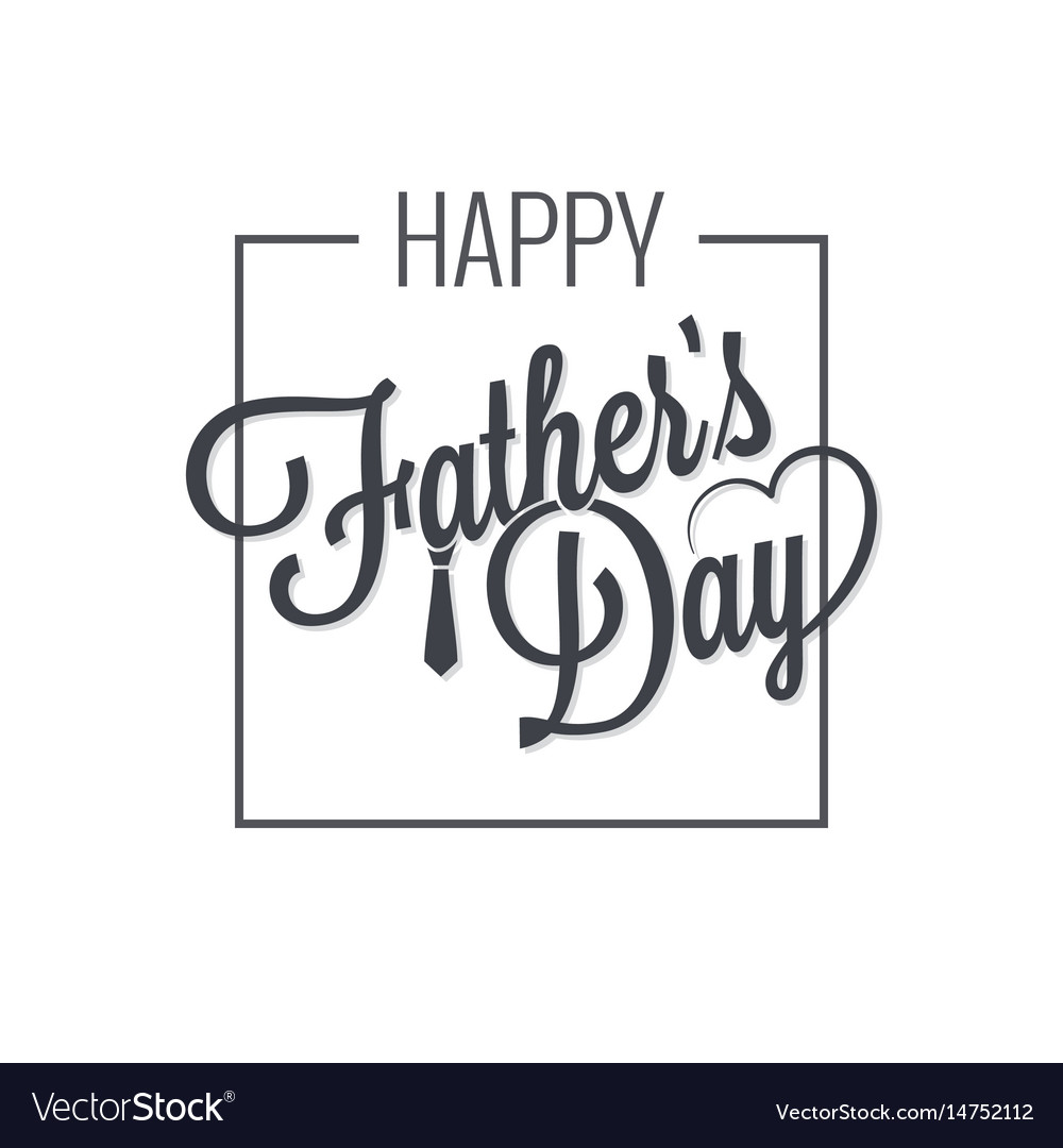 Fathers day logo on white vector image