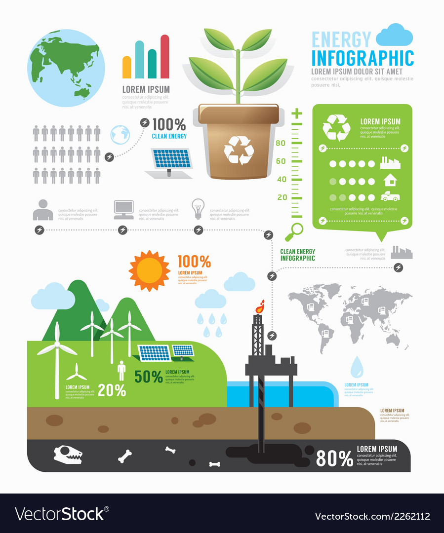 Infographic energy template design concept