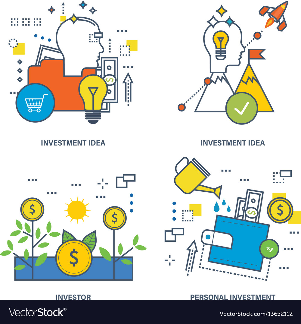 Investing types of investment the investor vector image