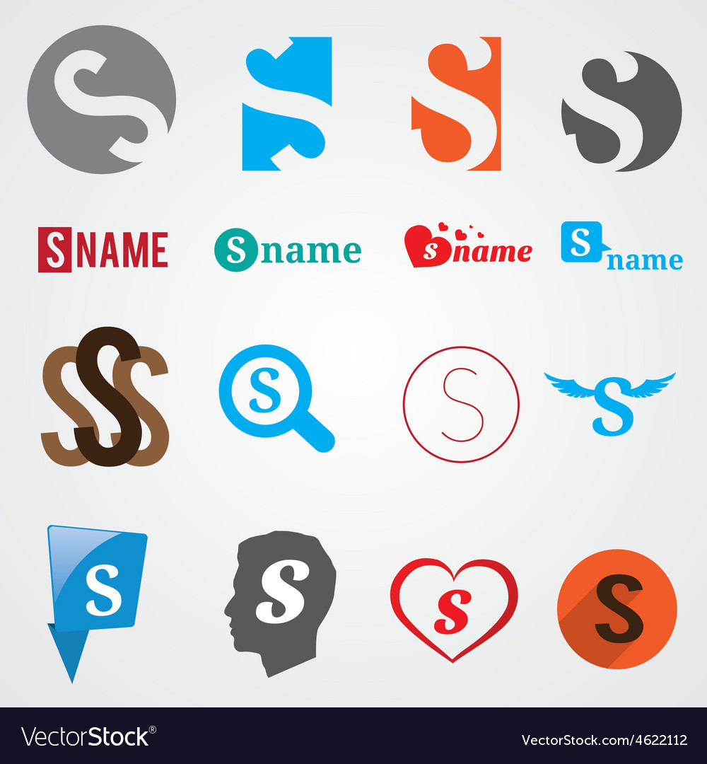 Set Of Alphabet Symbols Of Letter S Royalty Free Vector
