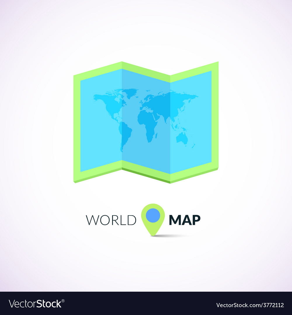 World map logo with pointer royalty free vector image world map logo with pointer vector image gumiabroncs Gallery